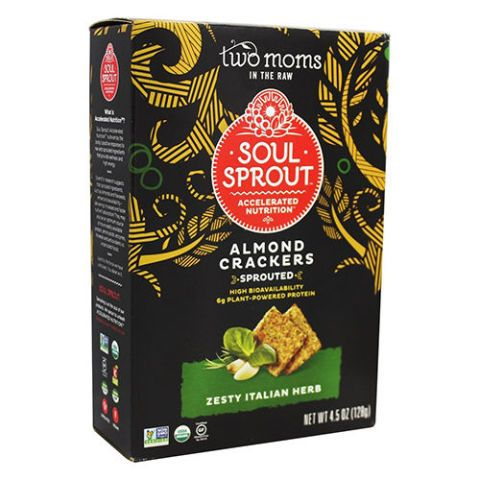 Soul Sprout by Two Moms in The Raw Organic Sprouted Almond Crackers Zesty Italian Herb