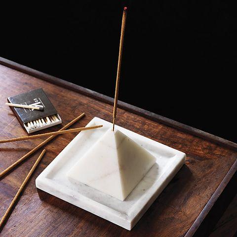 CB2 SAIC Pyramid Incense Burner With Tray