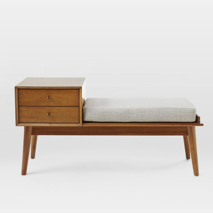 West Elm Mid-Century Storage Bench