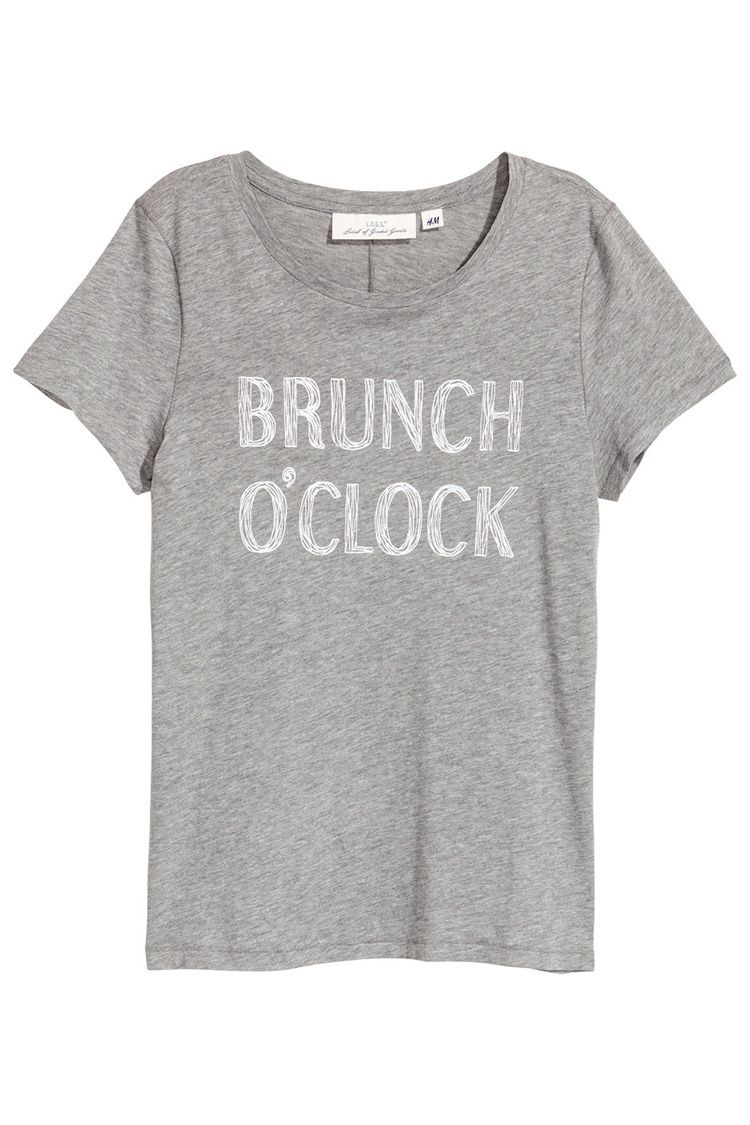 h&m gray brunch t-shirt