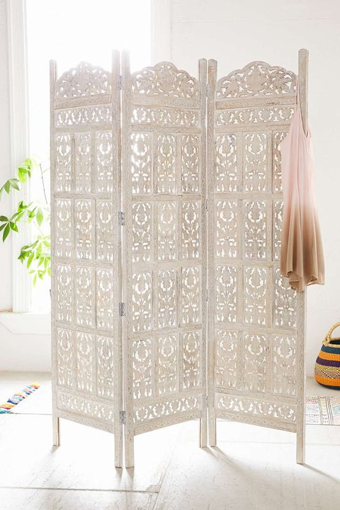 Urban Outfitters Amber Wooden Carved Screen