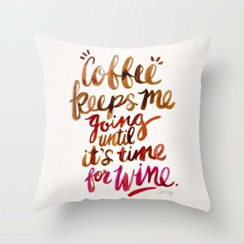 Society6 Wine Throw Pillow Cover