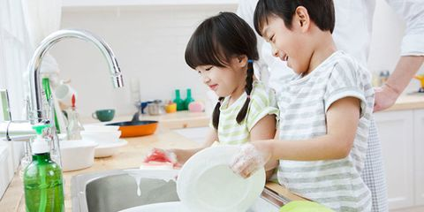 Fluid, Liquid, Child, Tap, Black hair, Plumbing fixture, Sink, Clay, Cooking, Kitchen sink,