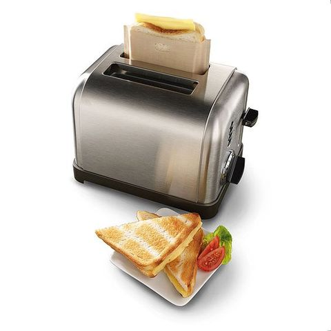 "<p><strong data-redactor-tag=""strong"" data-verified=""redactor""><em data-redactor-tag=""em"" data-verified=""redactor"">$10</em></strong> <a href=""http://www.uncommongoods.com/product/toaster-grilled-cheese-bags"" target=""_blank"" class=""slide-buy--button"" data-tracking-id=""recirc-text-link"">BUY NOW</a></p><p>Just drop some bread and cheese in the bag and toast it! They're&nbsp;covered in Teflon, so they won't catch on fire and kill anyone. They're also&nbsp;easy to clean&nbsp;since the cheese won't stick to the inside of the bag,&nbsp;and they&nbsp;can be used up to 50 times!</p>"