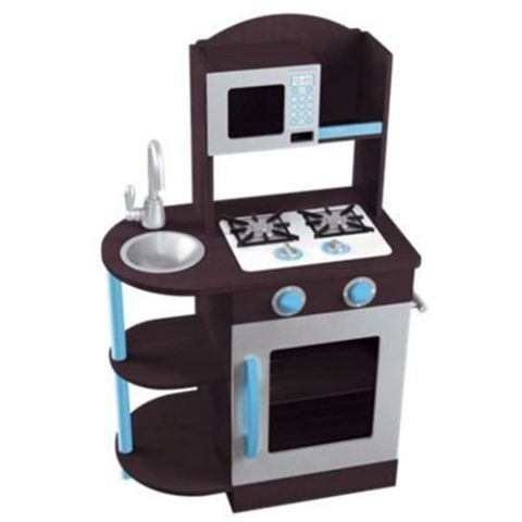 Black and Blue Gender Neutral Play Kitchen