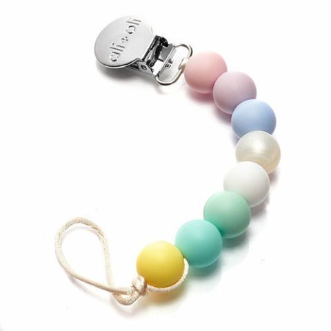 Pastel Silicone Pacifier Clip
