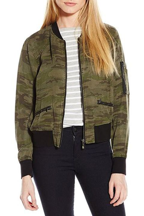 sanctuary camouflage bomber jacket