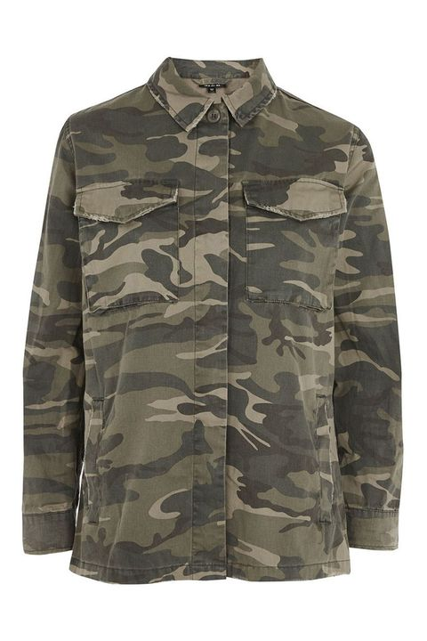Topshop Sampson Camo Shirt Jacket