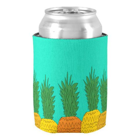 Tropical Pineapple Party Beer Coozies Can Cooler