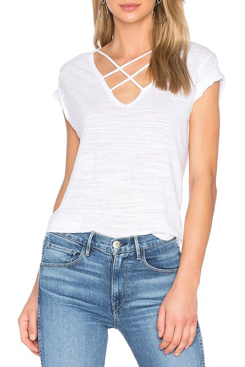 lna triple cross white t-shirt