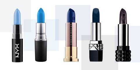 blue lipsticks