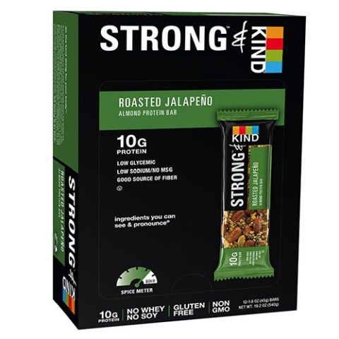 STRONG & KIND Roasted Jalapeno Savory Protein Bars