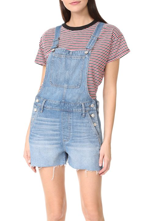 madewell denim shortalls