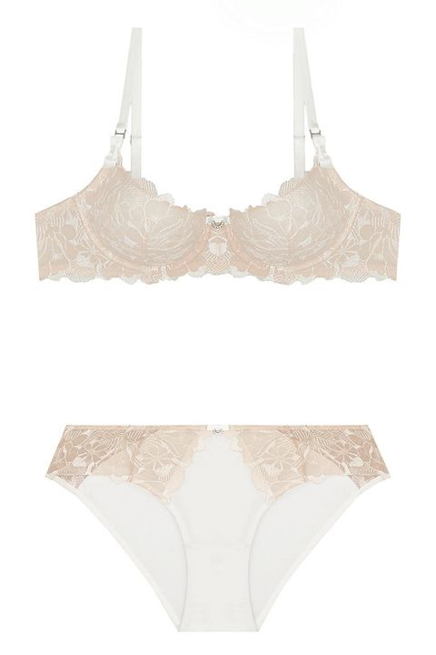 montelle eternally yours white lace bra and bikini