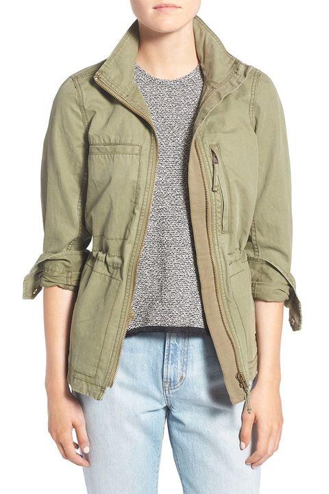 madewell fleet jacket in military surplus green