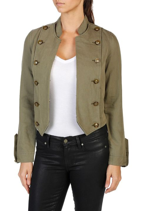 paige ashley military green jacket