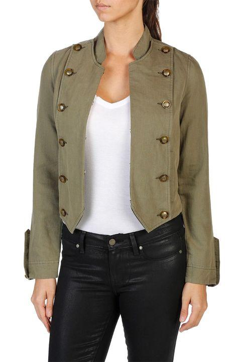 paige ashley military green jacket