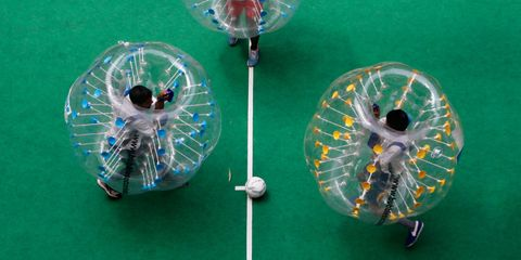 where to play bubble soccer