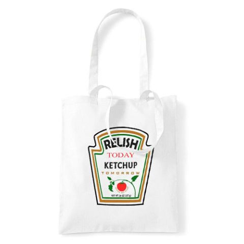 Relish Today, Ketchup Tomorrow Tote Bag by Three to the Sea