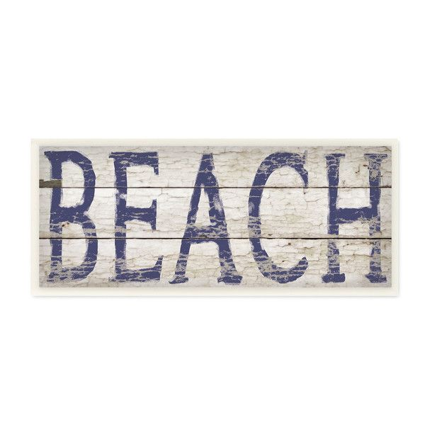 Birch Lane Distressed Beach Wall Plaque