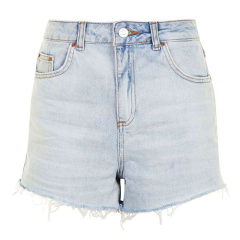 topshop high waisted mom denim shorts