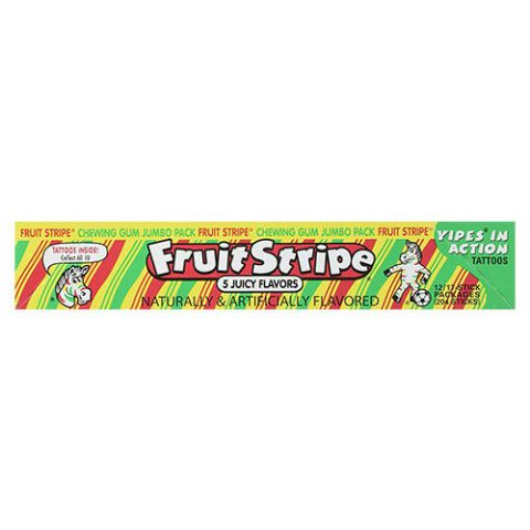 Fruit Stripe Bubble Gum