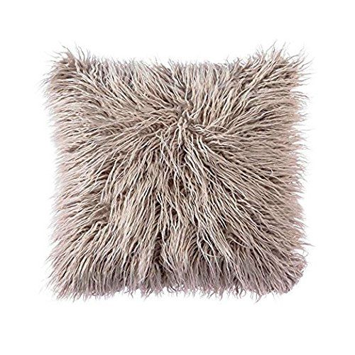 Ojia mongolian faux fur throw pillow cover