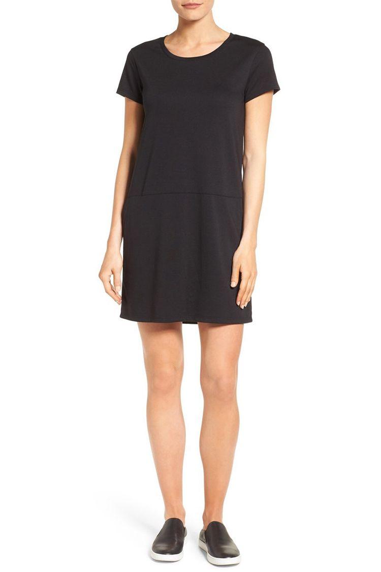 caslon black t-shirt dress