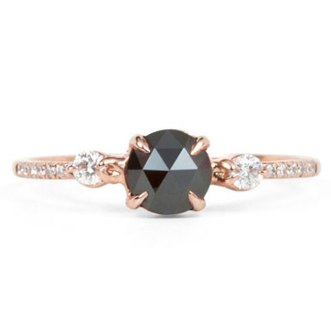 catbird odile the swan black diamond ring