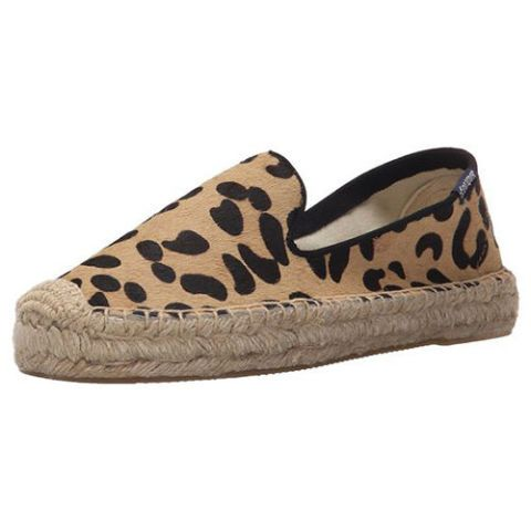 soludos leopard print espadrille flats
