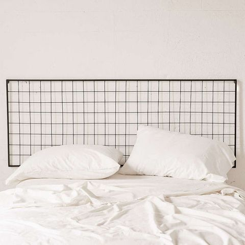 Urban Outfitters Grid Metal Headboard