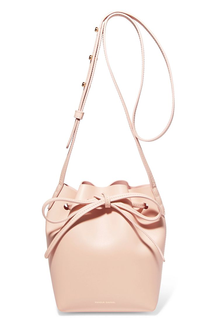 mansur gavriel mini mini pink bucket bag