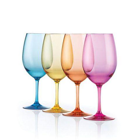 Indoor/Outdoor Mixed Color Wine Glasses