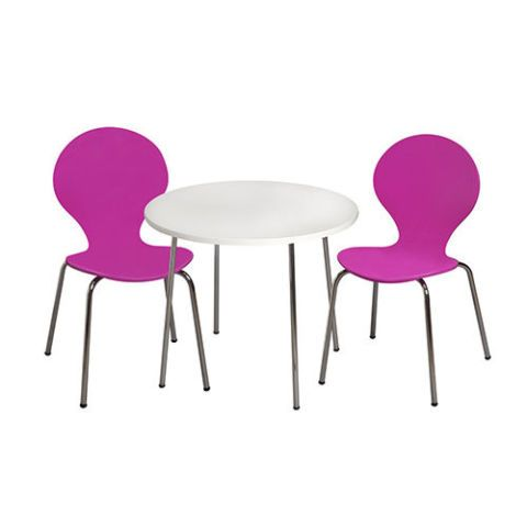 Fuschia Table and Chairs Set