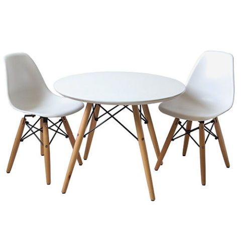 White And Wood Kids Table And Chair Set