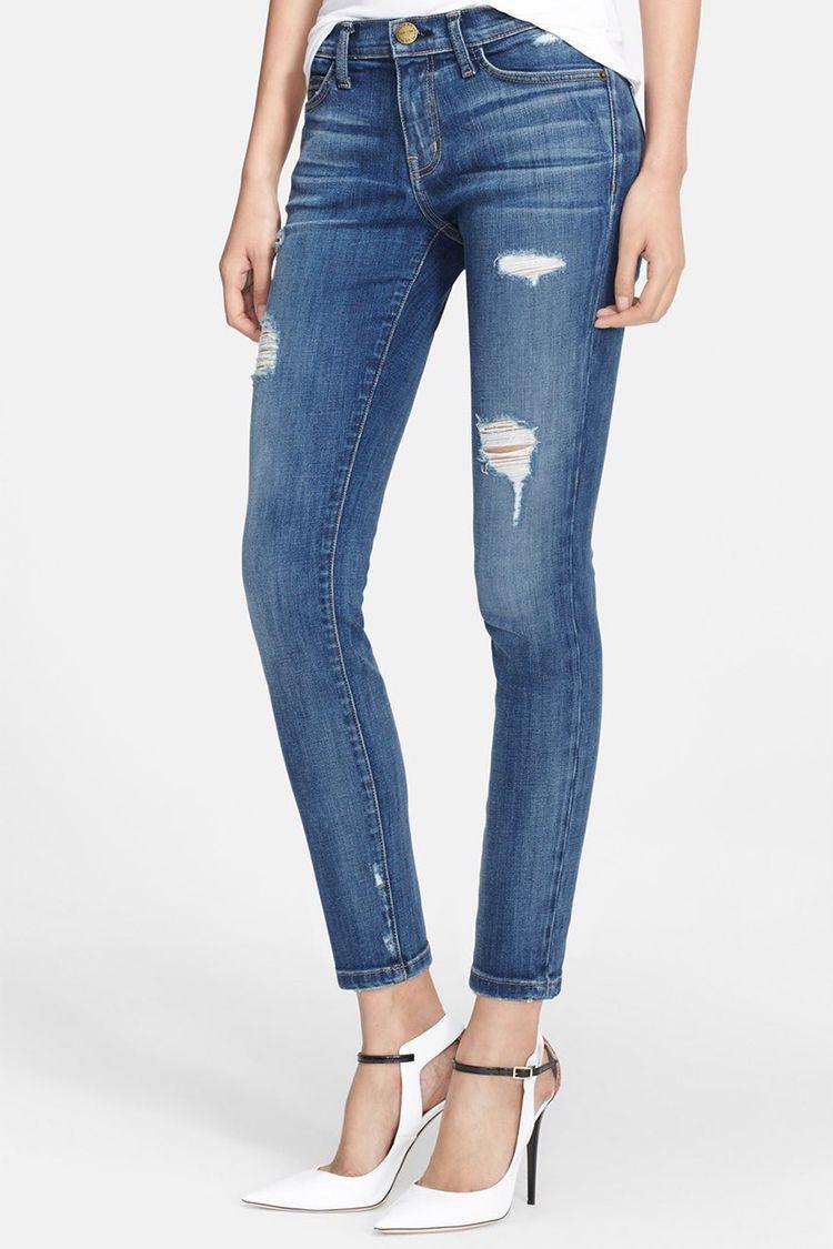 current elliott stiletto skinny jeans in niagara