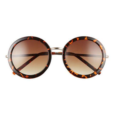 aj morgan round tortoise sunglasses