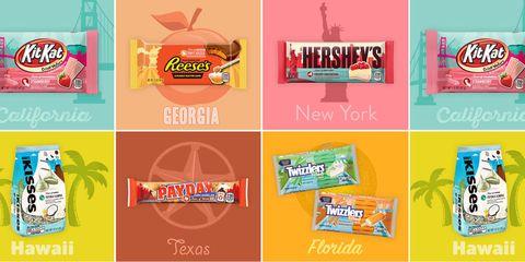 Hershey chocolate by state