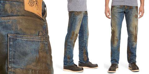 Denim, Jeans, Clothing, Pocket, Textile, Footwear, Leg, Trousers, Carpenter jeans, Shoe,