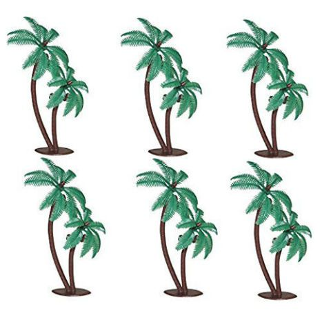 Palm Trees with Coconuts Cupcake Toppers