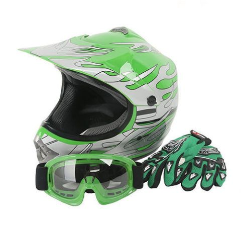XFMT Kids' Motocross Dirt Bike Helmet, Goggles, and Gloves