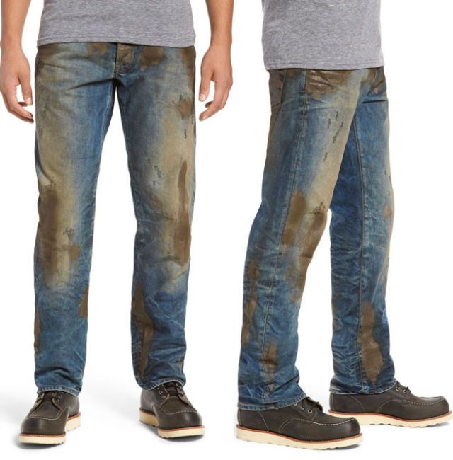 Where there's muck, there's brass: the 'muddy' jeans that cost £330