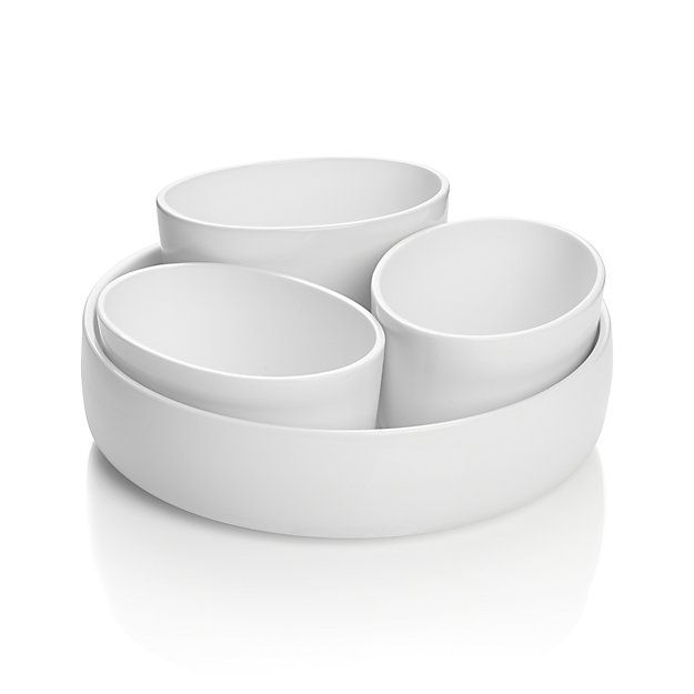 Crate & Barrel 4-Piece Form Server