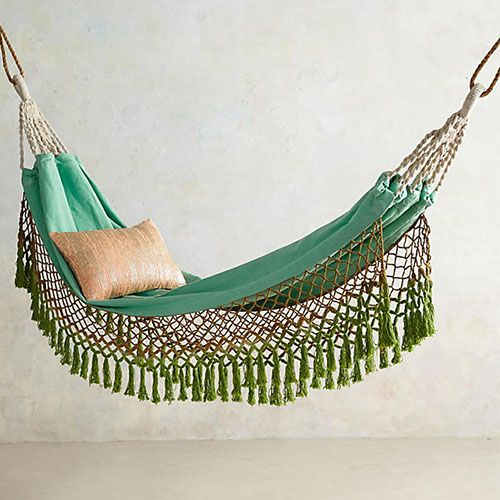 "<p><strong data-redactor-tag=""strong"" data-verified=""redactor""><em data-redactor-tag=""em"" data-verified=""redactor"">$118</em></strong> <a href=""https://www.anthropologie.com/shop/canyon-fringe-hammock?category=garden-outdoor&color=102"" target=""_blank"" class=""slide-buy--button"" data-tracking-id=""recirc-text-link"">BUY NOW</a></p><p>You'll feel like you have your own tropical paradise at home when you wrap yourself up in this luxe hammock (one of Anthropologie's best-sellers!). </p>"