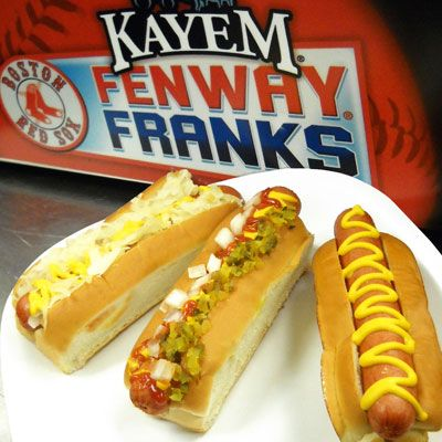 "<p><b>Stadium:</b> <a href=""http://boston.redsox.mlb.com/bos/ballpark/index.jsp"" target=""_blank"">Fenway  Park</a></p> <p><b>Why It's a Hit:</b> Homegrown frank. Local purveyor Kayem has been making its beef hot dogs in Chelsea, Massachusetts, since 1909. The snappy franks are steamed, grilled or rolled and then wedged inside a classic New England-style bun (crustless on the sides with a split top).</p> <p><b>Fun Fact:</b> Fenway is the first MLB ballpark to install a Hot Nosh Glatt Kosher hot dog vending machine.</p>"