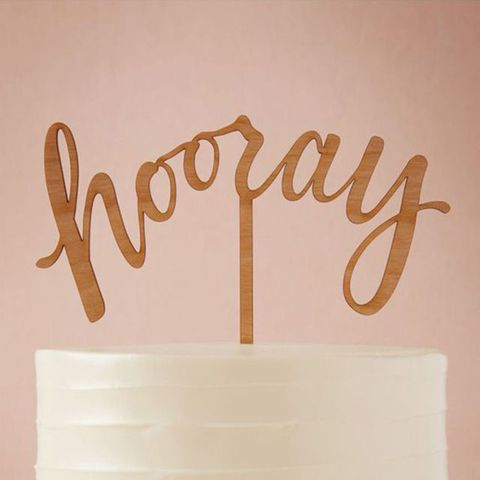 BHLDN Hooray Cake Topper