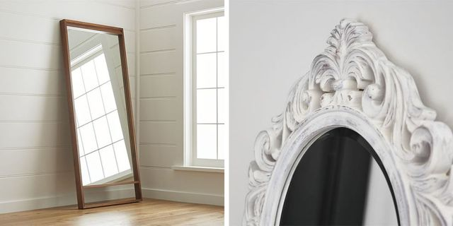 Chic Standing And Floor Mirrors, Full Length Mirror Oval Top