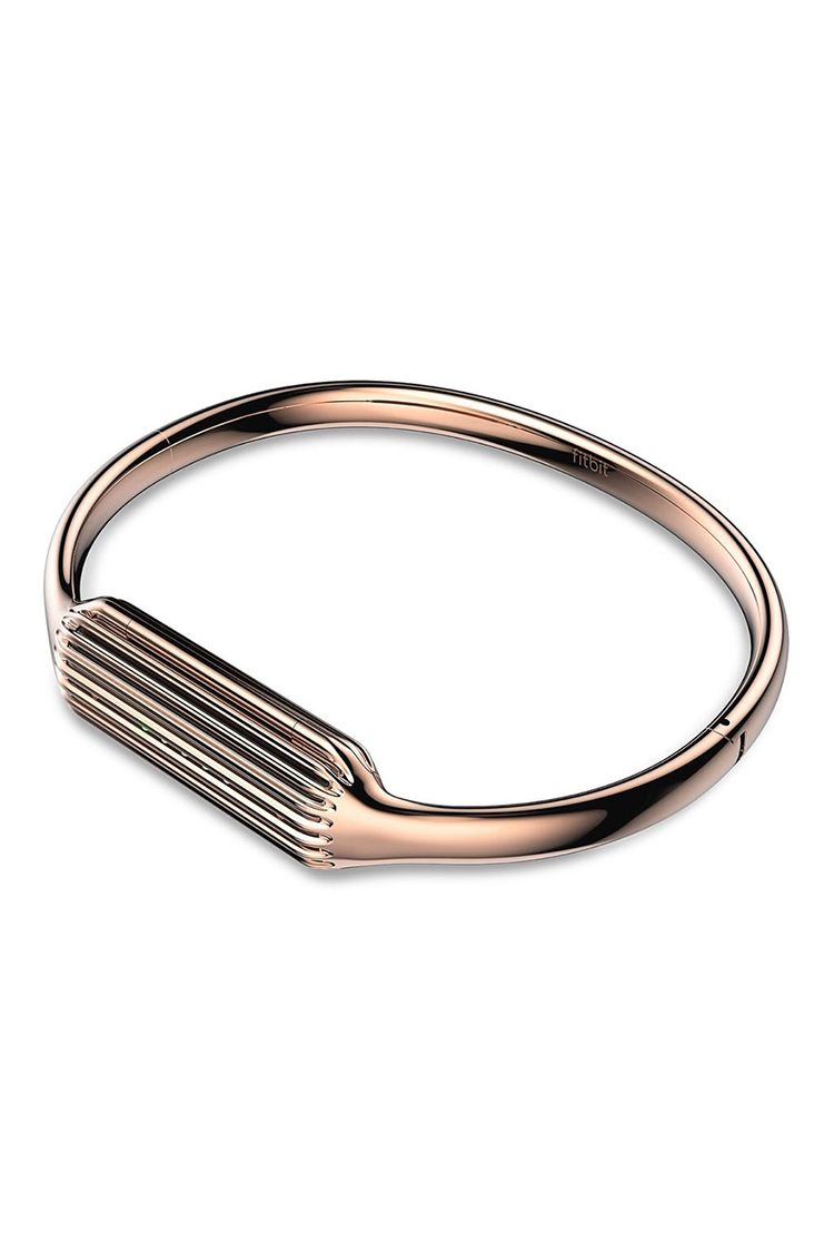 fitbit flex 2 rose gold bangle bracelet