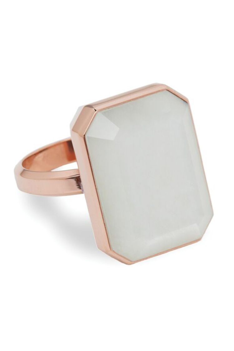 ringly first date rose gold moonstone ring
