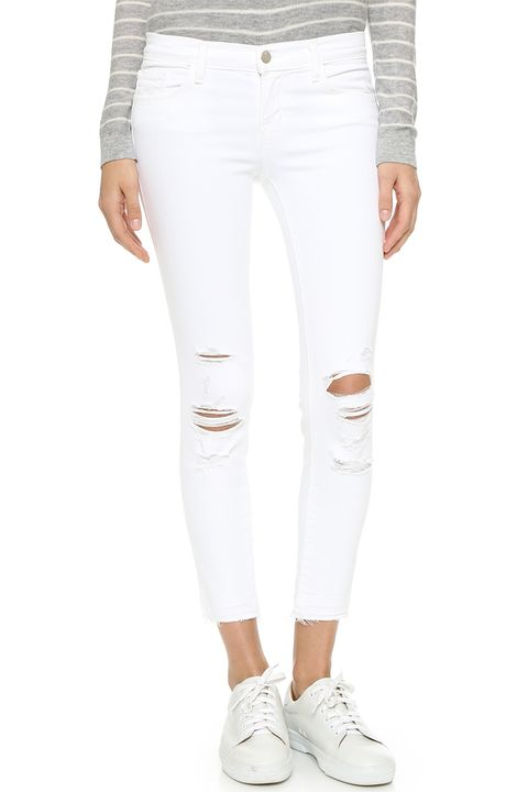 jbrand cropped distressed white jeans